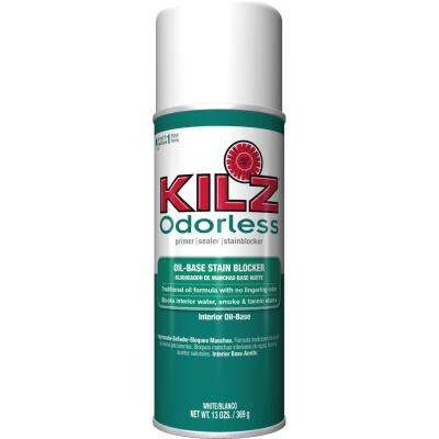 ODORLESS 13 oz. White Oil-Based Interior Primer, Sealer and Stain-Blocker Aerosol