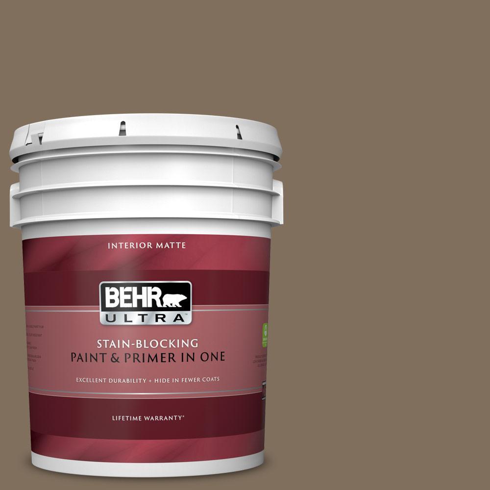 BEHR ULTRA 5 Gal. #PPU5-04 Mocha Latte Matte Interior