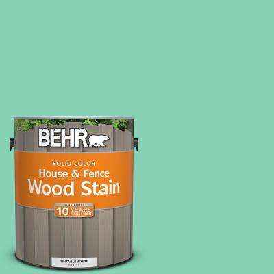 1 gal. #P420-3 Tropical Trail Solid House and Fence Exterior Wood Stain