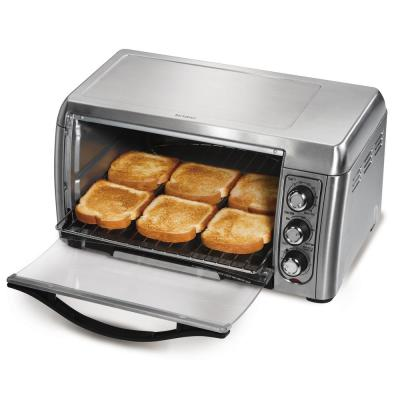 Hamilton Beach-1400 W 6-Slice Stainless Steel Toaster Oven with Built-In Timer