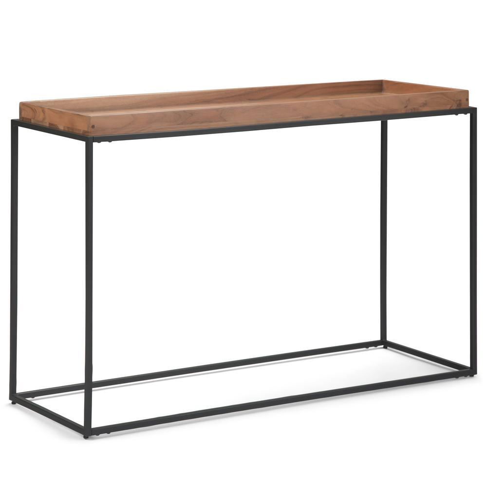 Carter Natural Acacia Tray Top Console Table