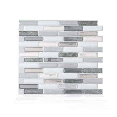 Milenza Bigio 10.20 in. W x 9.00 in. H Peel and Stick Self-Adhesive Decorative Mosaic Wall Tile Backsplash (4-Pack)