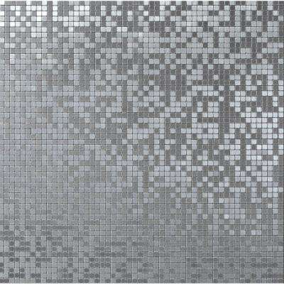 Micro Aluminum Foil 11-7/16 in. x 11-7/16 in. x 3.18 mm Metal Mosaic Wall Tile (9.08 sq. ft. / case)