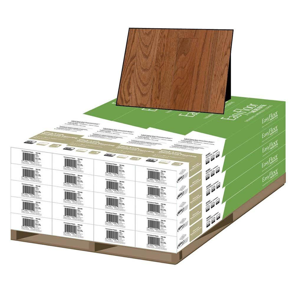 Mohawk Gunstock Oak 3/8 in. Thick x 3-1/4 in. Wide x Random Length Engineered Uniclic Hardwood Flooring (470 sq. ft. / pallet)