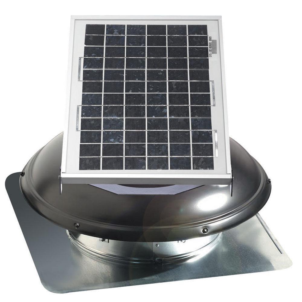800 CFM Solar Powered Roof Mount Exhaust Attic Vent