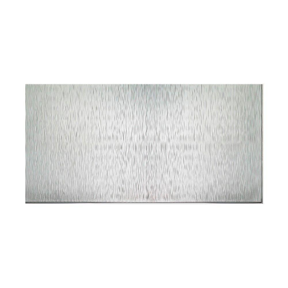 Fasade Ripple Vertical 96 in. x 48 in. Decorative Wall Panel in Brushed Aluminum