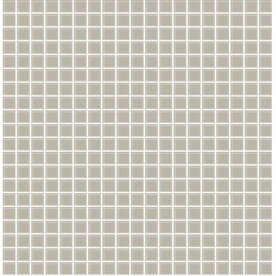 56.4 sq. ft. Tessellate Grey Glass Tile Wallpaper