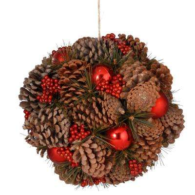 12 in. Pinecone Hanging Ball