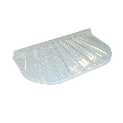 44 in. x 4 in. Polyethylene Elongated Low Profile Window Well Cover