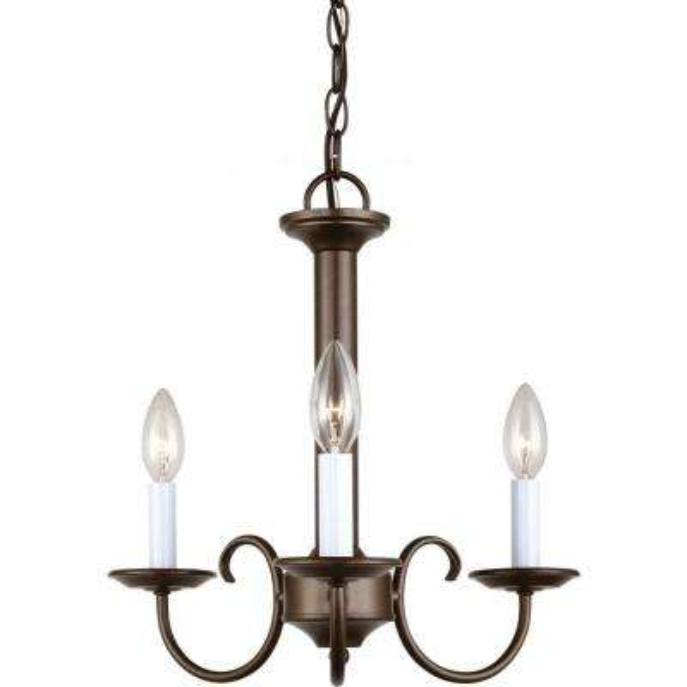 Holman 3-Light Bell Metal Bronze Single Tier Chandelier