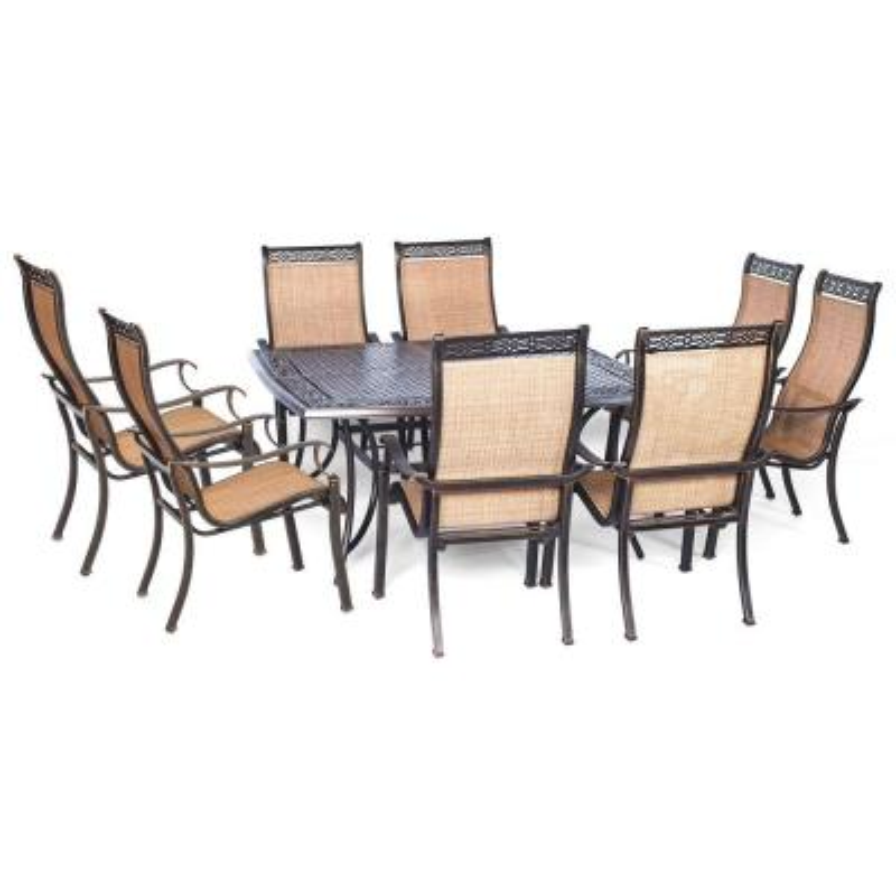 Manor 9-Piece Square Patio Dining Set