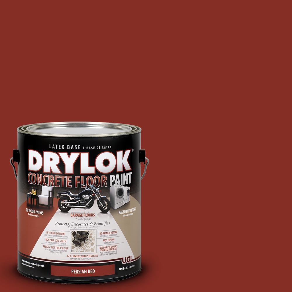 persian red water based floor paint