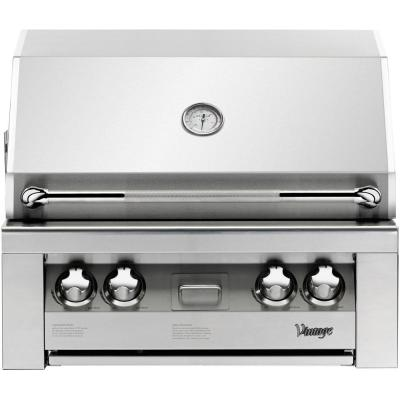 30 in. Built-In Natural Gas Grill in Stainless
