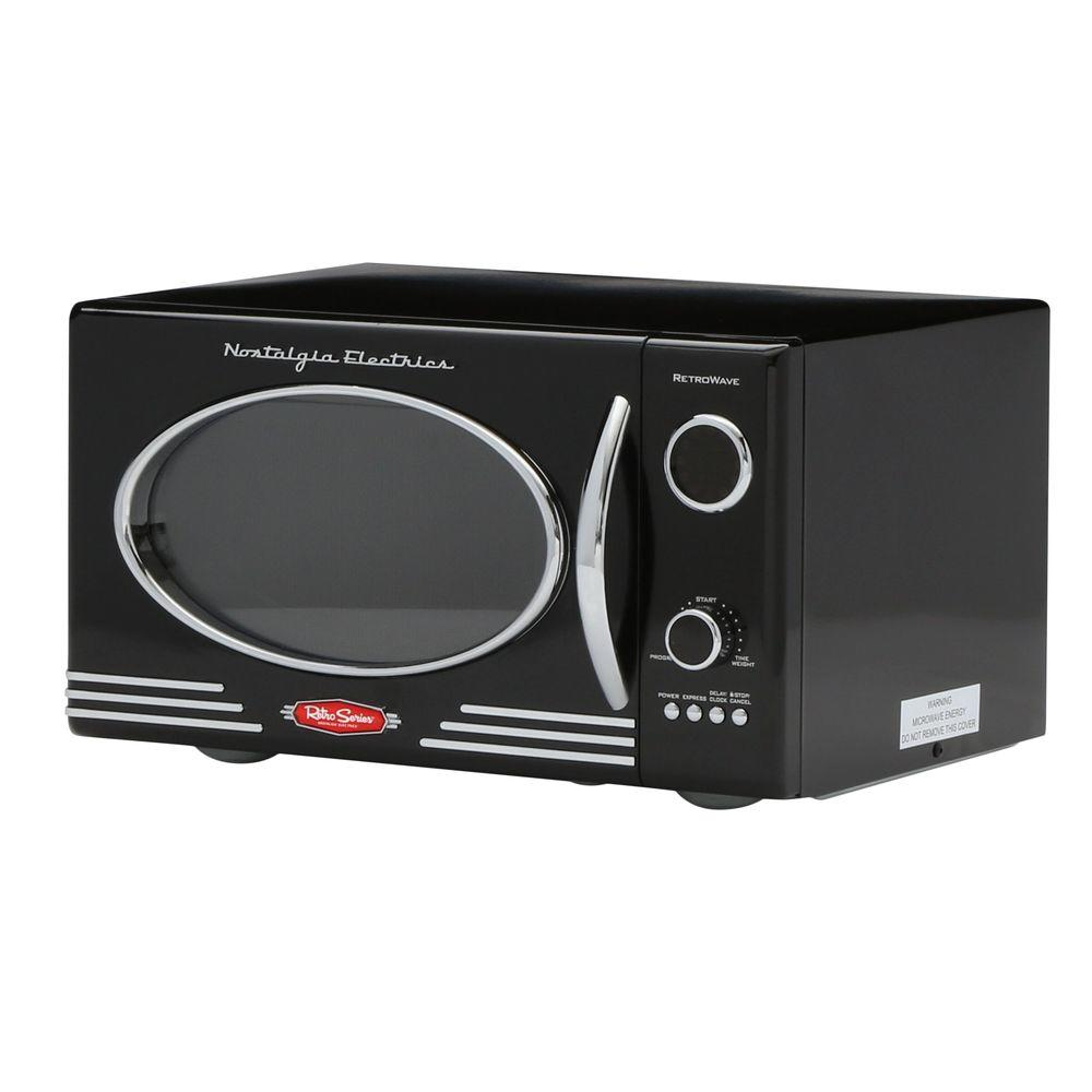 Nostalgia Electrics Retro Series 0.9 cu. ft. Countertop Microwave in Black