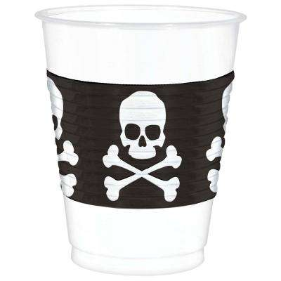 4.5 in. Skull and Crossbones Plastic Cup (25 Count, 2-Pack)