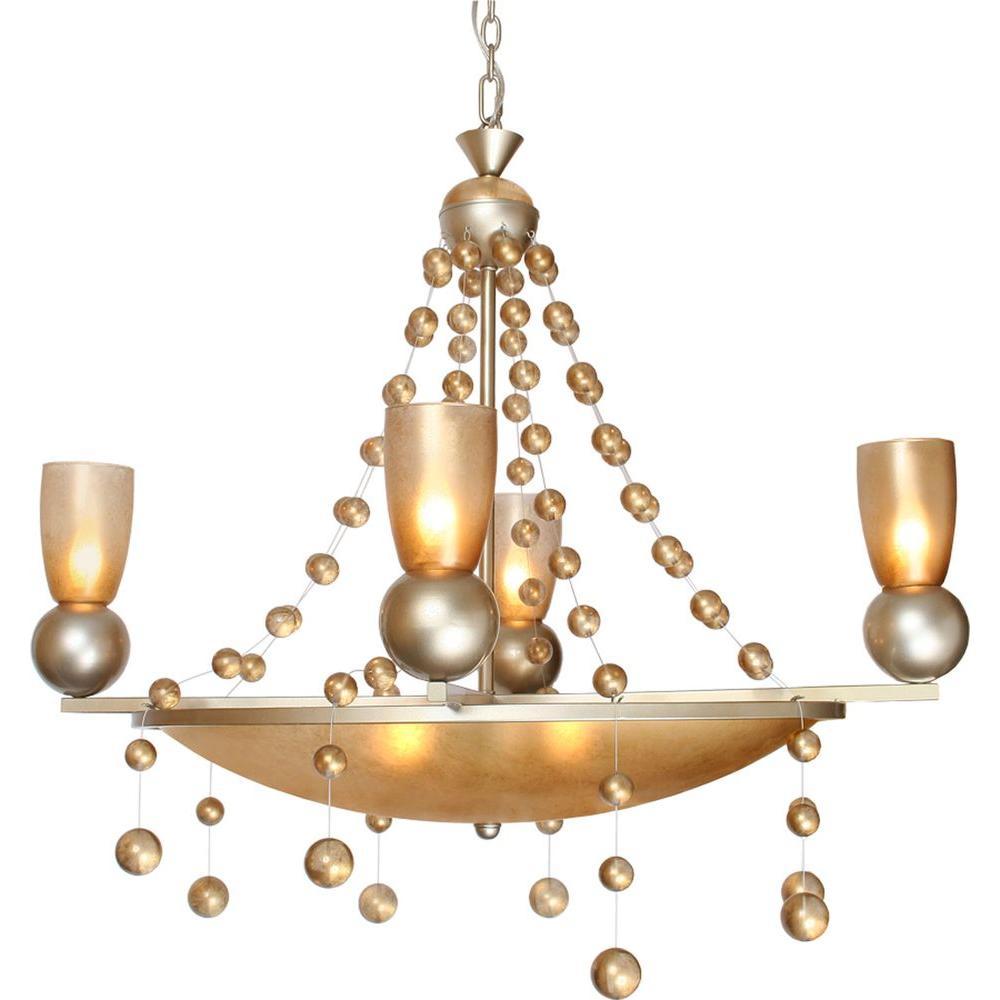 Century 3-Light Silver Jacobean Chandelier