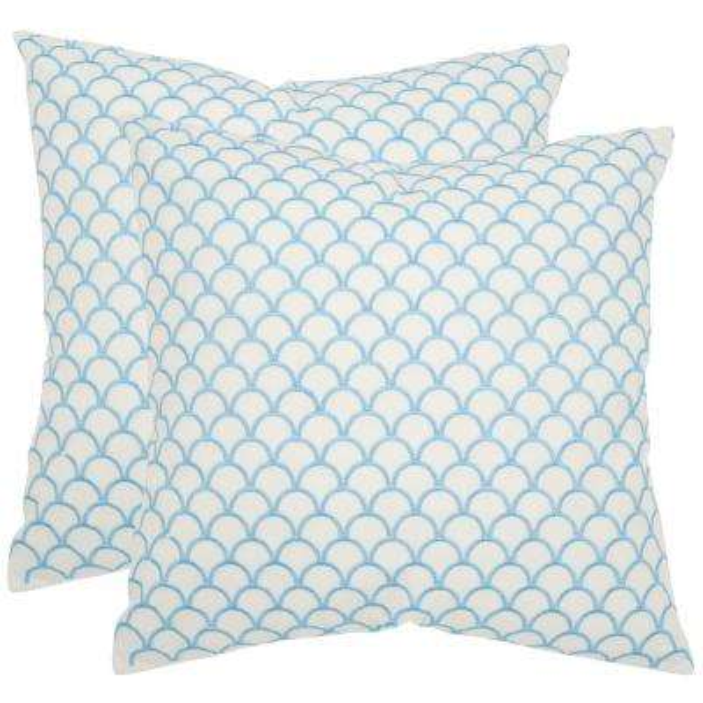 Nikki Geometric Embellished Pillow (2-Pack)