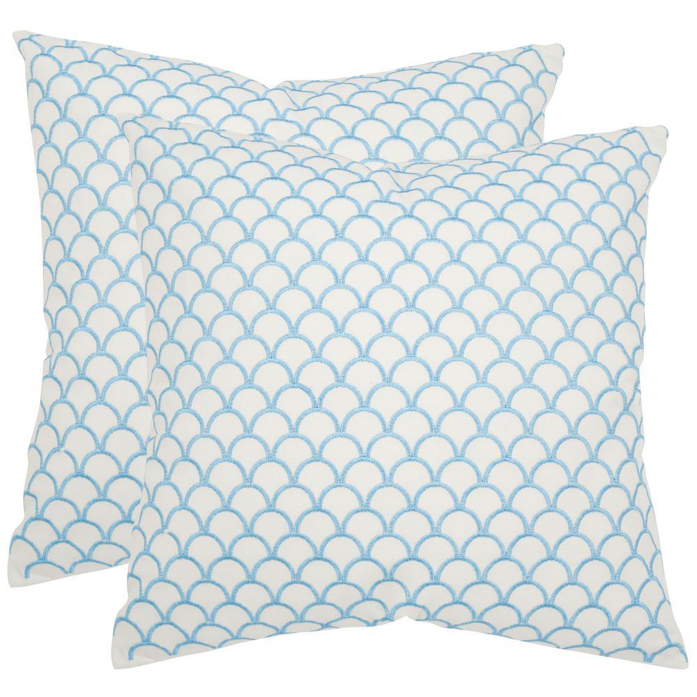 Safavieh Nikki Geometric Embellished Pillow (2-Pack) PIL938A-1818-SET2