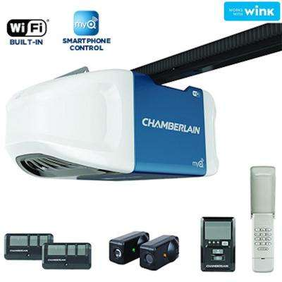 3/4 HPS Smartphone-Controlled Wi-Fi Belt Drive Garage Door Opener with Ultra-Quiet Operation
