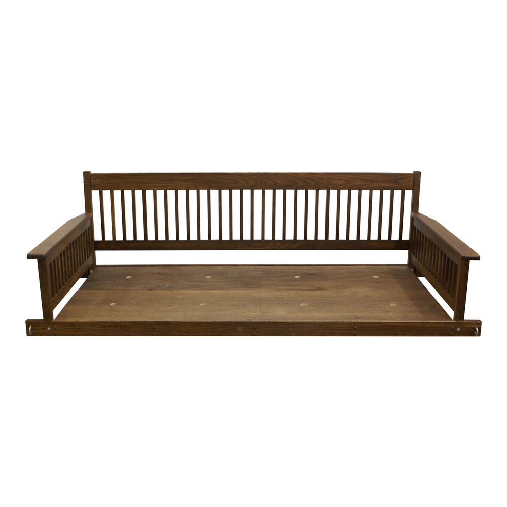 Plantation 2-Person Daybed Danish Wooden Porch Patio Swing-856PSBDF ...
