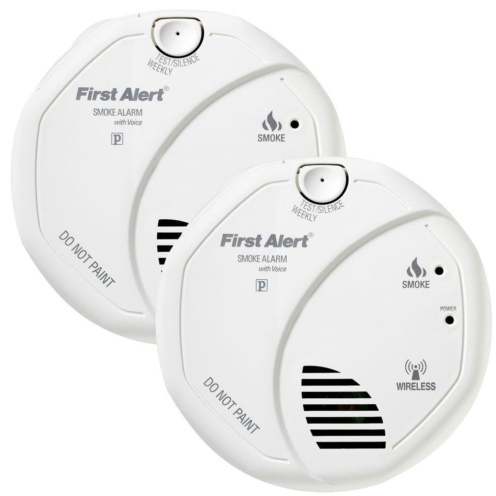 First Alert Wireless Interconnect Smoke Detector (2-Pack)