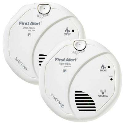 Wireless Interconnect Smoke Detector (2-Pack)