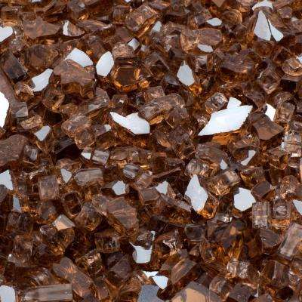 1/2 in. 10 lb. Medium Copper Reflective Tempered Fire Glass