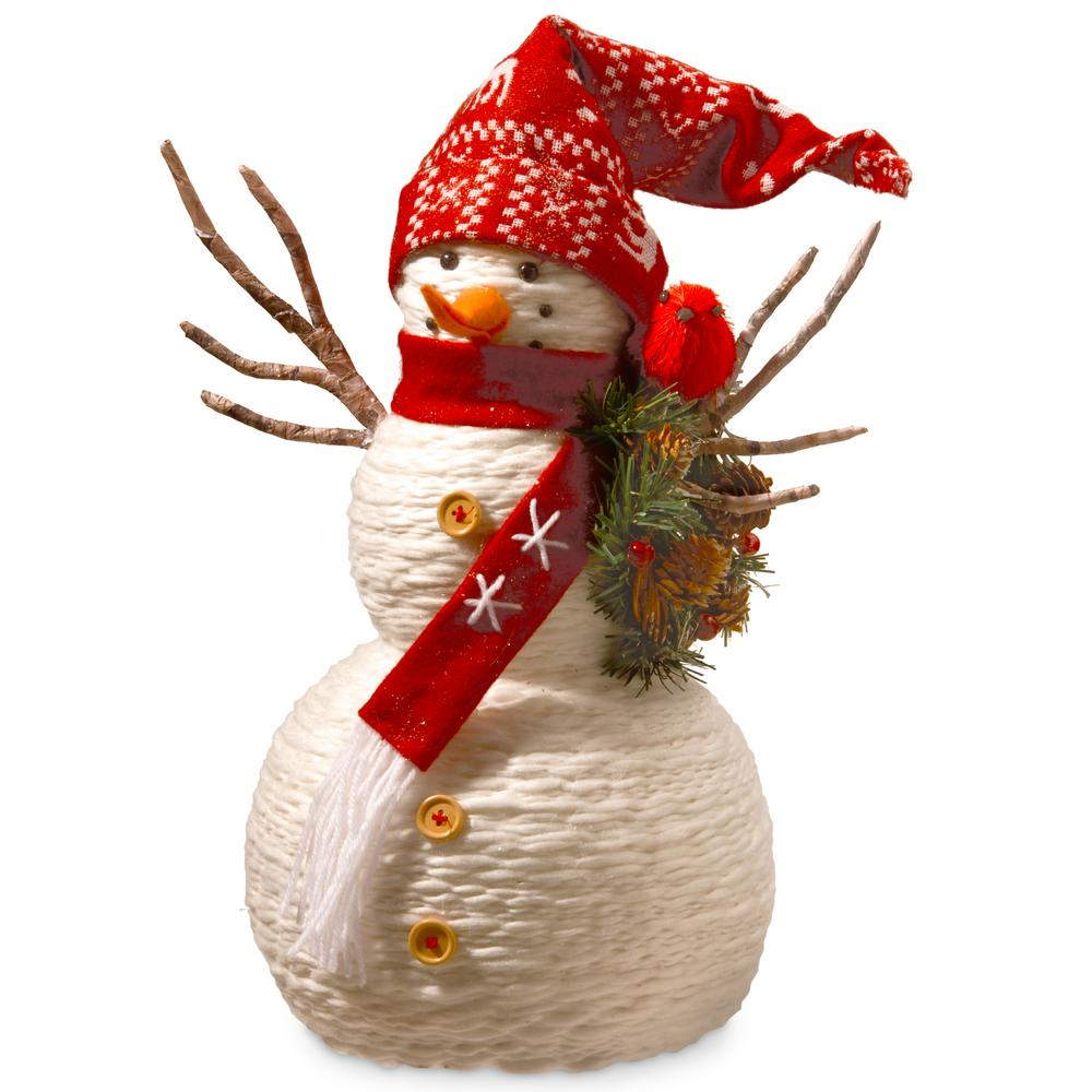 19 in. Fabric Snowman