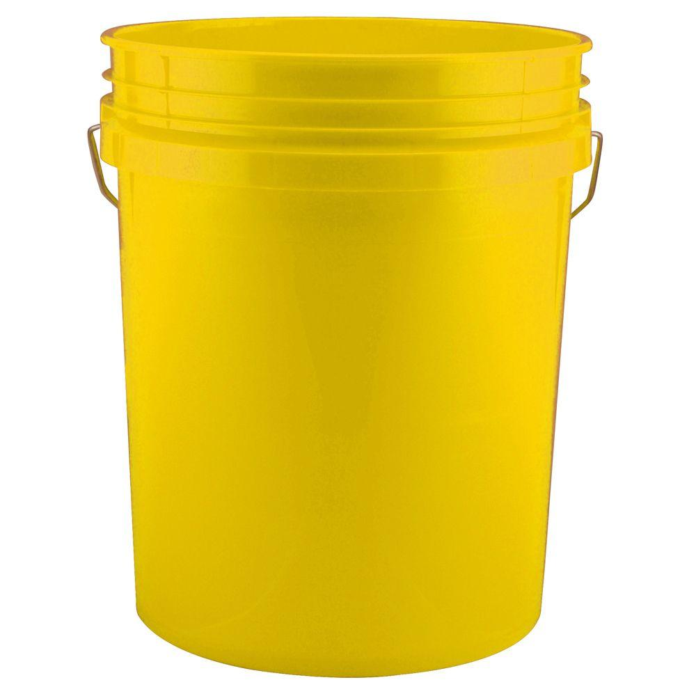 Leaktite 5 Gal Yellow Bucket Pack Of 3 209335 The Home Depot
