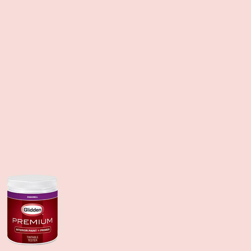 Glidden Premium 8 Oz Hdgr55u Pink Mimosa Eggshell Interior Paint Sample With Primer Hdgr55up