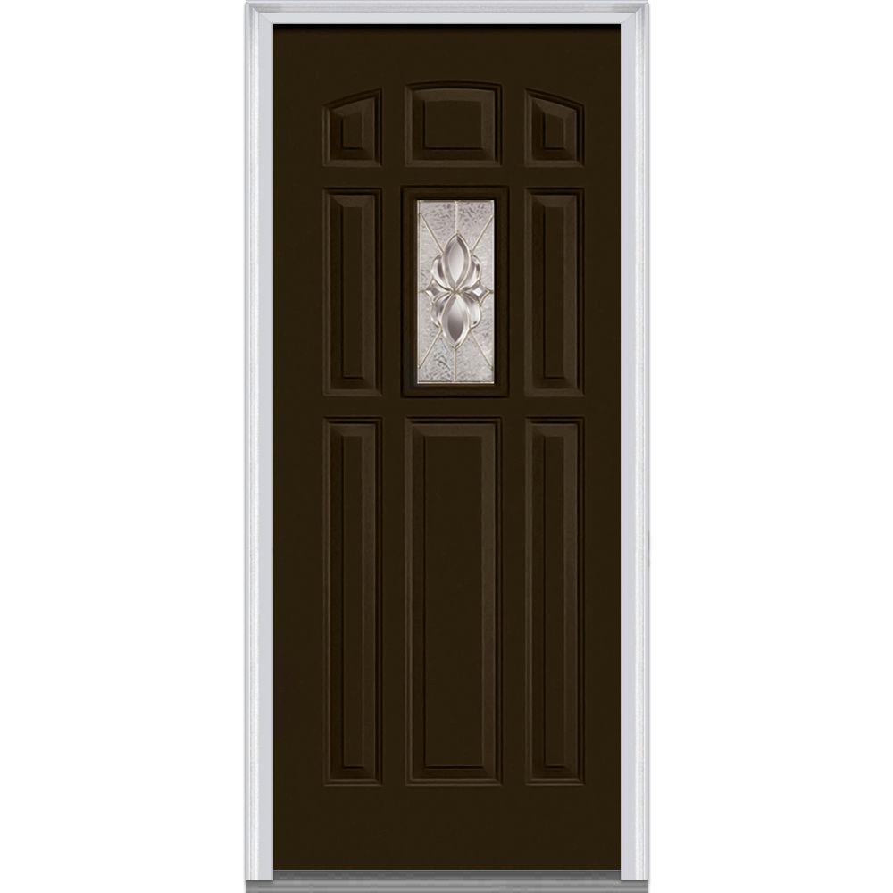 Classic 8 Panel Doors With Glass Steel Doors The Home Depot
