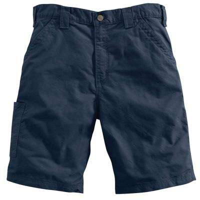Men's Regular 38 Navy Cotton  Shorts