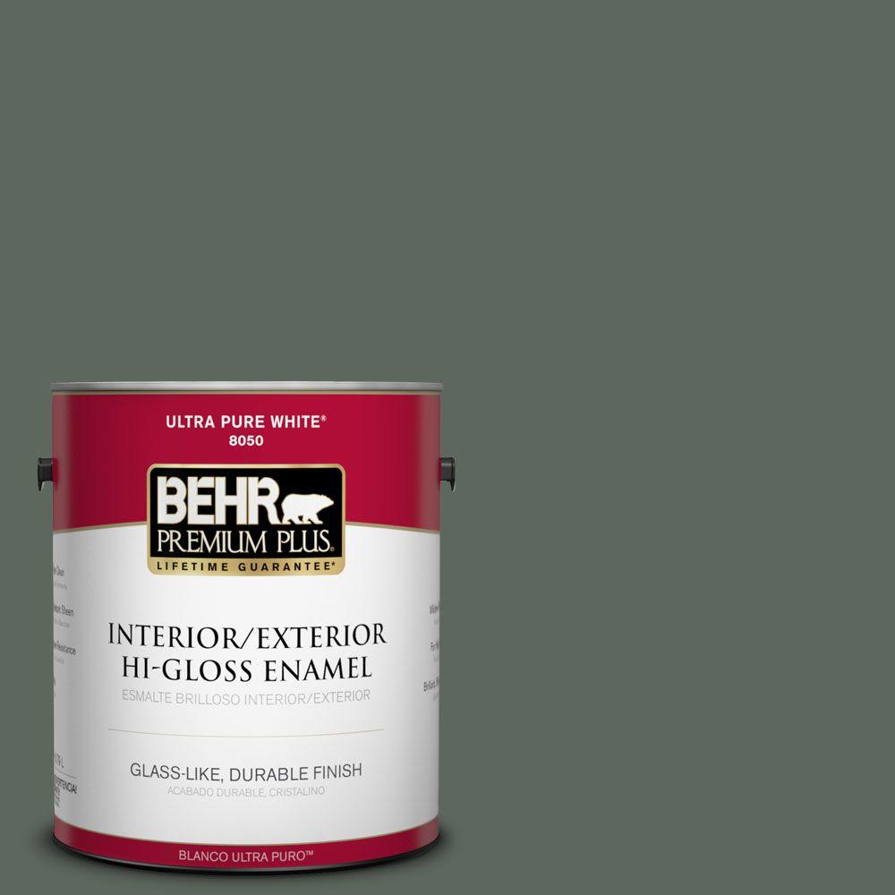 1-gal. #N420-6 Pine Mountain Hi-Gloss Enamel Interior/Exterior Paint