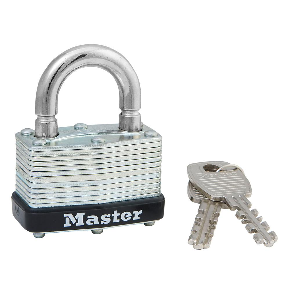 Master Lock 1-3/4 in  Laminated Steel Padlock with Breakaway Shackle