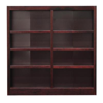 48 in. Cherry Wood 8-shelf Standard Bookcase with Adjustable Shelves