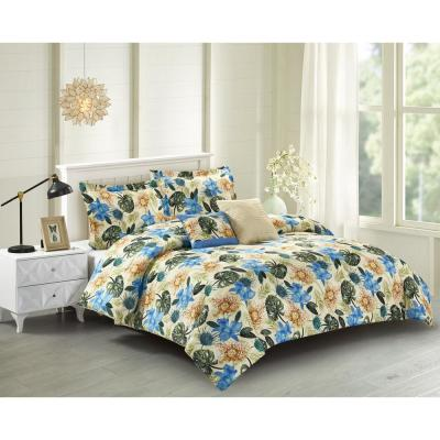 Lanai 5-Piece Blue King Comforter Set