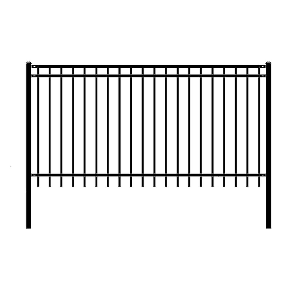 Aleko Nice Style 4 Ft X 8 Ft Black Unassembled Steel