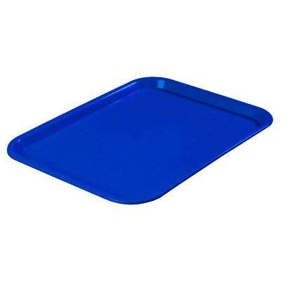 10.75 in. x 13.87 in. Polypropylene Cafeteria/Food Court Serving Tray in Blue (Case of 24)