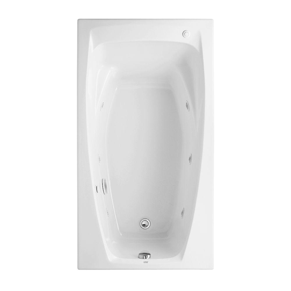 Colony 5 ft. x 32.75 in. Reversible Drain Whirlpool Tub in