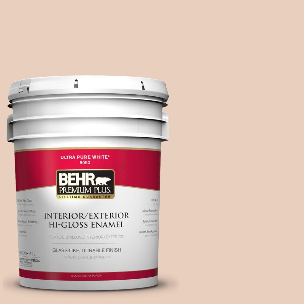 5-gal. #PPL-61 Spiced Beige Hi-Gloss Enamel Interior/Exterior Paint