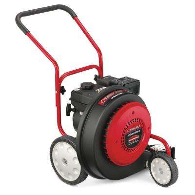 150 MPH 1000 CFM 208cc Walk-Behind Gas Blower with 90-Degree Front Discharge Chute