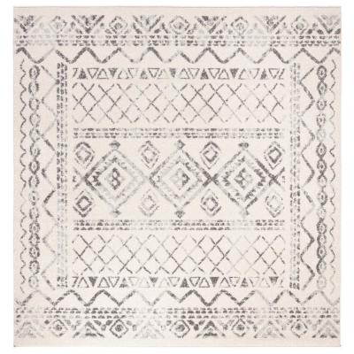 Tulum Ivory/Gray 7 ft. x 7 ft. Square Area Rug