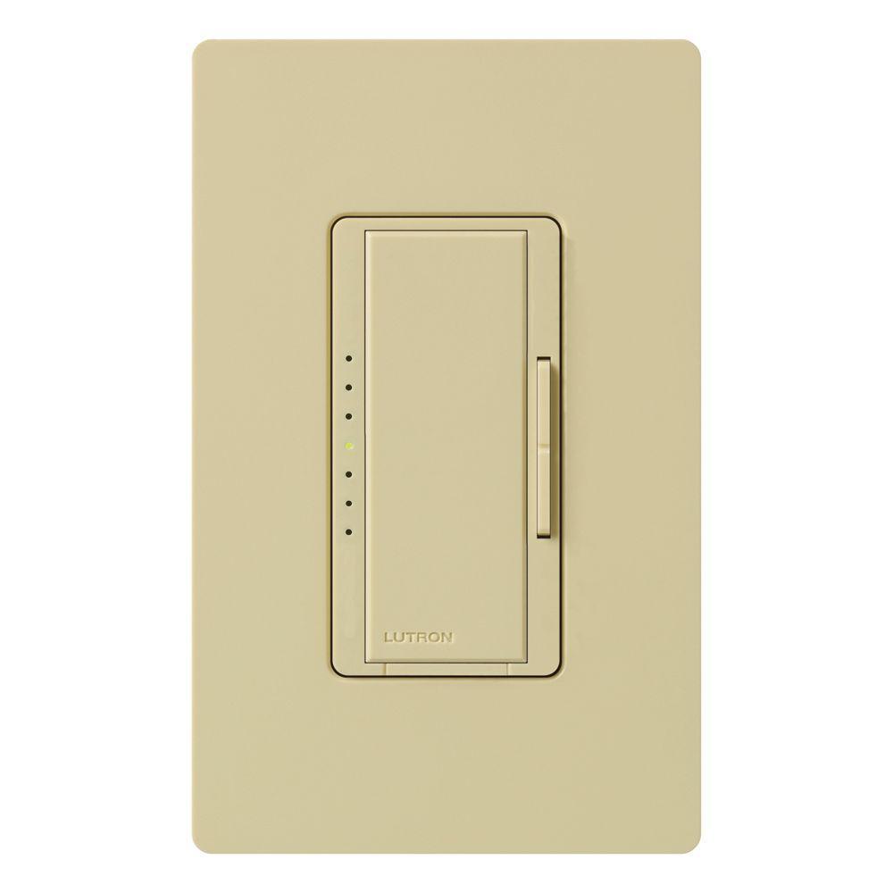 Lutron Maestro 600-Watt Multi-Location Digital Dimmer - Ivory on