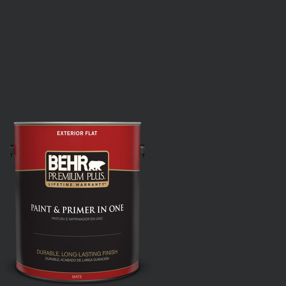 #ECC 10 2 Jet Black Flat Exterior Paint And Primer In One 430001   The Home  Depot Part 43