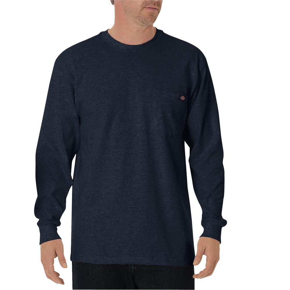 Long Sleeve Heavyweight Crew Neck Tee-Dark Navy
