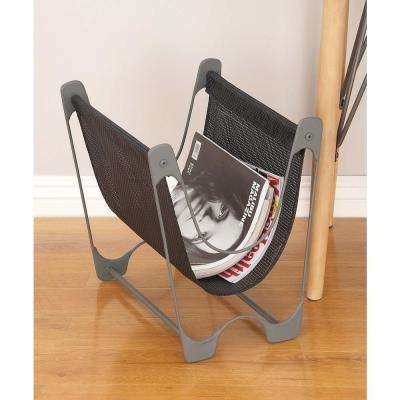 15 in. x 15 in. Metal and Fabric Magazine Holder