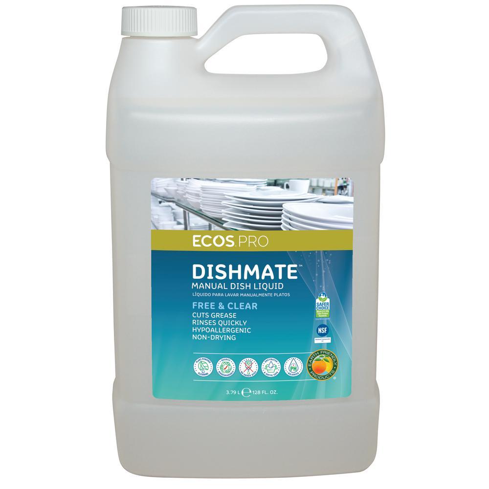 128 oz. Dishmate Free and Clear Manual Dishwashing Liquid