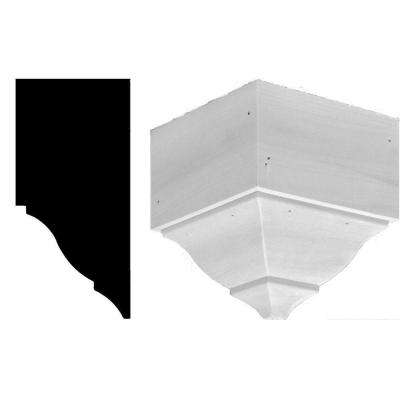 7-1/4 in. x 7-1/4 in. x 7-1/2 in. Wood Outside Corner Crown Moulding