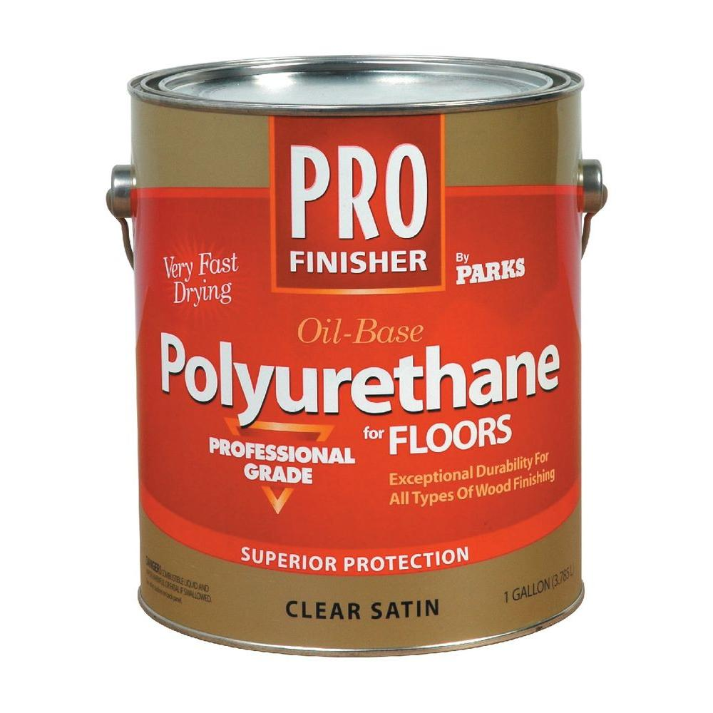 Rust-Oleum Parks Pro Finisher 1 gal. Clear Satin 450 VOC Oil-Based Interior Polyurethane for Floors (2-Pack)