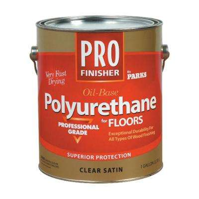 Pro Finisher 1 gal. Clear Satin 450 VOC Oil-Based Interior Polyurethane for Floors